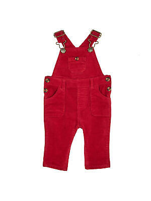 John Lewis Baby Stretch Dungarees / Red 12-18 Months Brand New With Tags