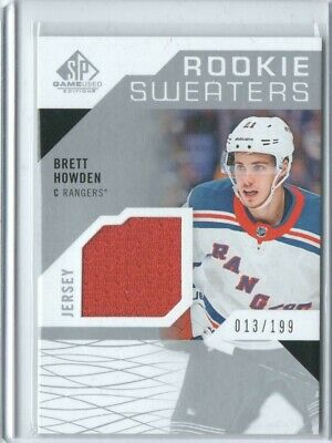 2018-19 Sp Game Used- Rookie Sweaters- Brett Howden #Rs-Bh /199