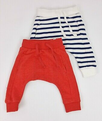 Boys Clothes NEXT X2 PACK Skinny Fit Harem Style Joggers 3-6 & 9-12 Months BNWT
