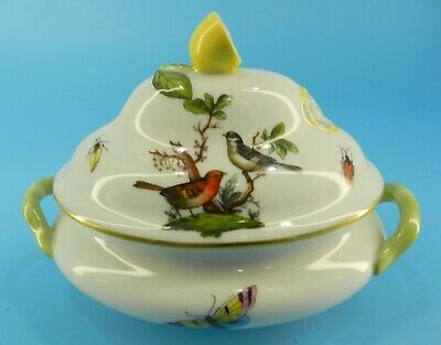 HEREND HUNGARY Rothschild Bird INDIVIDUAL Covered SOUP VEGETABLE Tureen Small