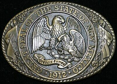 Vintage Tony Lama State Series Collection Belt Buckle New Mexico