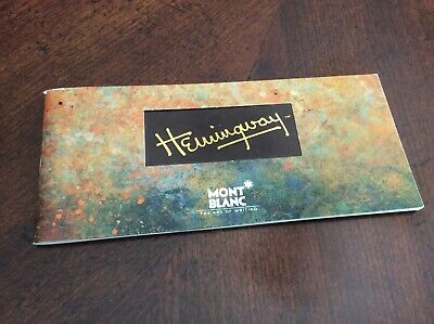 Montblanc Hemingway Limited Edition International Service Certificate