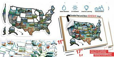 or Wall ~ Includes 50 State Decal Stickers with Scenic ...
