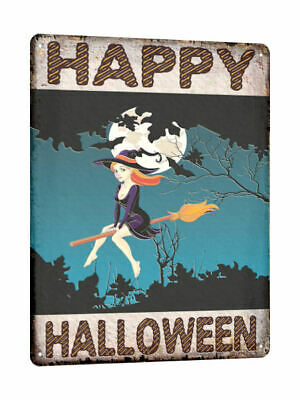 HALLOWEEN decoration WITCH METAL SIGN haunted house vintage style wall decor 721