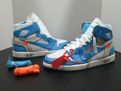 15644db077cb92 🔥 NIKE AIR Jordan 1 X OFF WHITE UNC Retro High OG AQ0818‌-‌148 Sz ...