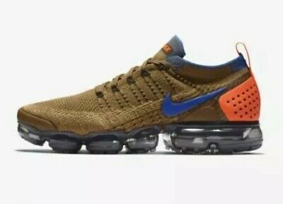 dbdd5b7853027 NIKE AIR VAPORMAX FLYKNIT 2 Orange Golden Beige 942842-203 Mens Size 14
