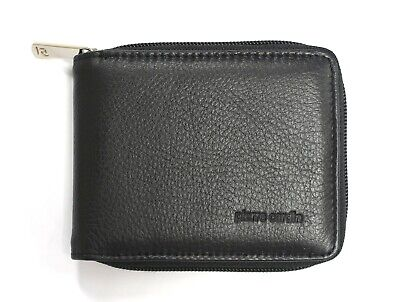 Father's Day Pierre Cardin Genuine Italian Leather Mens Trifold Wallet Coin RFID