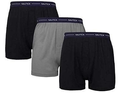 Nautica Men's Boxer Modal Cotton Fit Boxer Tagless, 3 Pk Small Black/Black/Grey