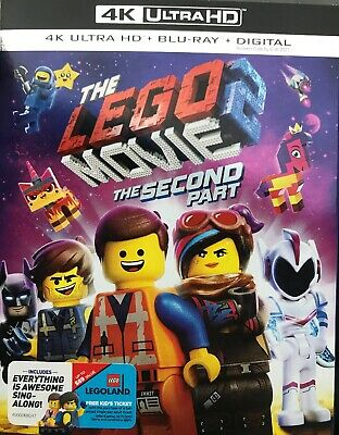The Lego Movie 2:The Second Part(4K Ultra Hd+Blu-Ray+Digital)W/Slipcover New