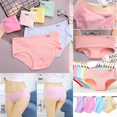 Breathable Women's Cotton Underwear Stretchy Briefs Panties Knickers Underpants