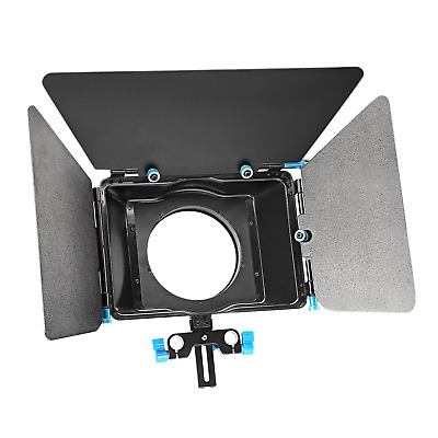 Neewer® Aluminum Alloy Matte Box with Donut Ring, Fit 15mm Rail Rod Rig, for
