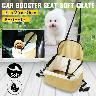 Collapsible Car Pet Booster Seat Dog Puppy Carrier Adjustable Strap Travel Bag