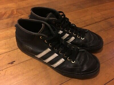 best sneakers 34c5e 41ad4 MENS ADIDAS MATCHCOURT MID SNOOP x GONZ SIZE 10.5 Black Skate Shoes Leather