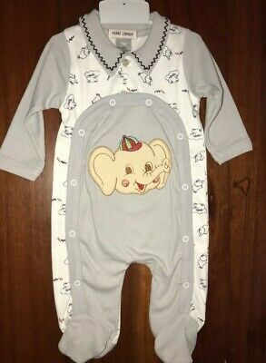 6 Brand new baby one piece - grey with elephant