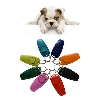 Pet Puppy Dog Cat Clicker & Whistle - Training Obedience Agility Trainer Click