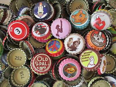 300 Uncrimped Rare and Unique Crown Caps for home-brewed beer or soda or crafts