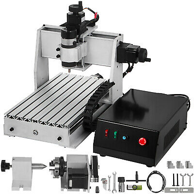 4 Axis CNC Router 3020 Engraving Milling Machine Milling Chrome Plate Shaft USB