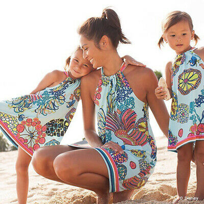 2019 Family Matching Dresses Mother Daughter Baby Swimwear Beach Dress Summer