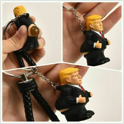 Donald Trump Body Poop Keyrings President Toy Squeeze  Key Chain Novelty Fun New