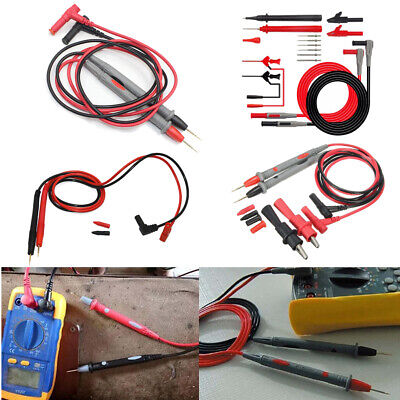 1000V 20A/10A Digital Multimeter Multi Meter Test Lead Cable Probe Needle Wire
