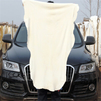 Natural Shammy Chamois Leather Car Cleaning Towels Drying Washing Cloth 60*BIG$