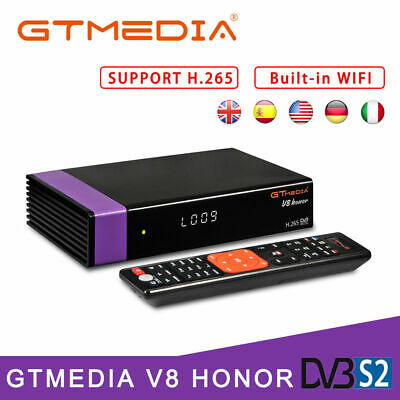 Gtmedia V8 Honor H.265 DVB-S2 Receptore de TV por satélite HD 1080P Set Top Box
