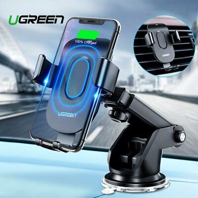 Ugreen Qi Car Wireless Charger Air Vent Phone Mount Holder Stand For iPhone X XS