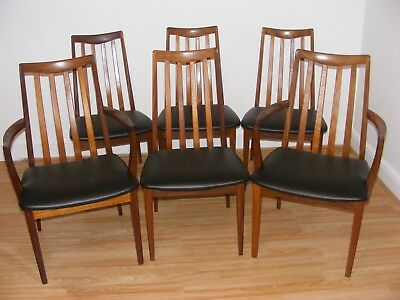 G Plan Mid Century Set Of 6 Teak Vintage Dining Chairs  - Delivery Available