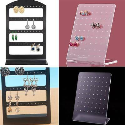 Hot Acrylic 48/72 Holes Earring Display Stand Ear Studs Rack Organizer Jewelry