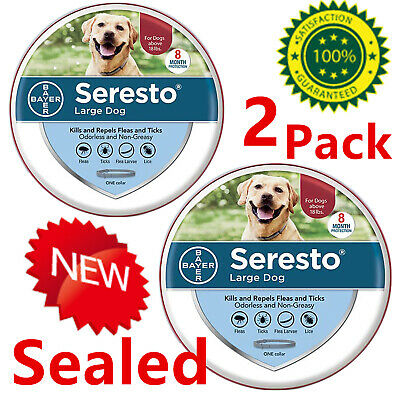 Bayer Seresto Flea and Tick Collar for Large Dogs over 18 Ibs Free Ship-2-pack