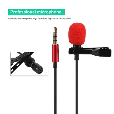 3.5MM Jack Wired Lavalier Clip On Lapel Condenser Mini Mic Microphone Hands Free