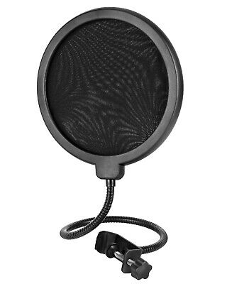 Large Pop Filter Shield 2 Layer Studio Recording Microphone Wind Screen Mask