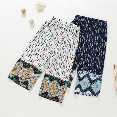 Children Girls Loose Pants Baggy Dance Costume Bloomers Trousers Printed Pants