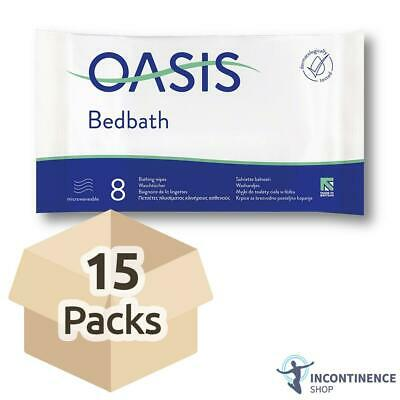 15x Oasis Bed Bath Wipes - Scented - 32cm x 22cm - Pack of 8
