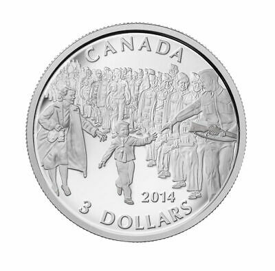 2014 Canada $3 Fine Silver Coin, Wait for me, Daddy