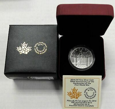 2014 Canada $10 Silver Coin -  100th Anniversary The Mobilisation of our Nation