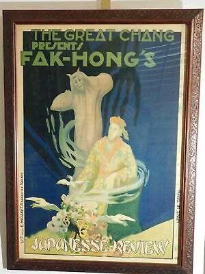 The Great Chang Presents FAK-HONG'S Japanese Review 1920's Litho