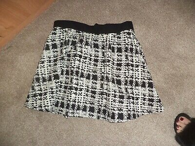 8f0df2078dcf brand new with tags black and white skater skirt size 12 luxe dorothy  perkins