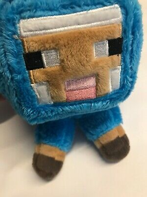 MINECRAFT BLUE SHEEP Soft Plush Toy (7 inches) BRAND NEW