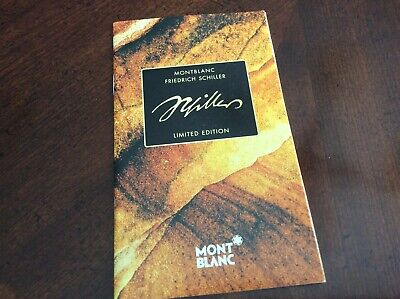Montblanc Friedrich Schiller Brochure Booklet Documents