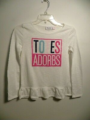 Girl'sThe Children's Place TOTES ADORBS Long Sleeve Pullover Top-Sz L(10/12) NWT