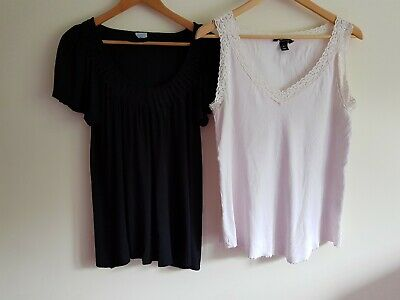 H&M Mama and Oasis Size 14 maternity t-shirt top bundle (2 items)