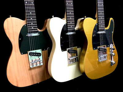 Pick 1 - New Tele Style 6 String Slab Body Electric Guitar Lightweight 3 Colors