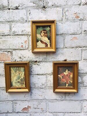 3 vintage french Picture Rococo gold framed  renaisance 13tp  Romantic