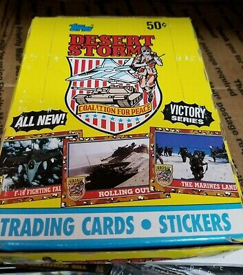 Desert Storm 2 Victory Series Topps Collectible Vintage Trading Card Pack Box