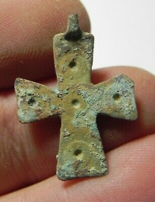Zurqieh - As12426-  Ancient Byzantine Bronze Cross. 600 A.d - Jordan
