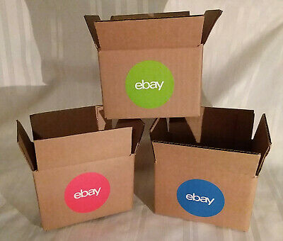 eBay Branded logo 6 x 4 x 4 Corrugated Boxes - GREAT FOR EBAY SHIPPING! 3 COLORS