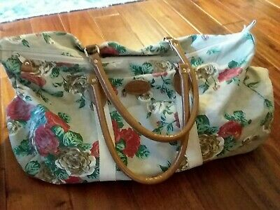 eb989ac6ca Vintage 80s Gitano Floral Overnight Weekend Carry-on Duffle Travel Bag  Luggage