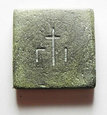Zurqieh - As12435- Ancient Byzantine Bronze Weight. 600 - 700 A.d. 10 Numismata