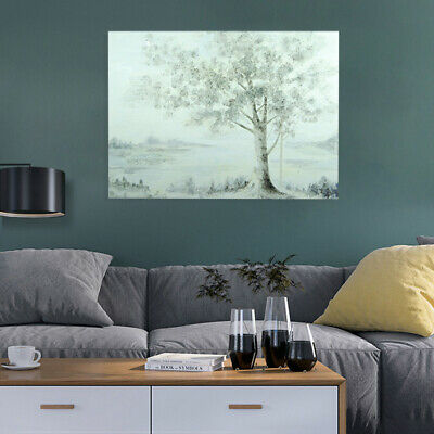 Abstract Ginkgo Hand Painted Art Canvas Oil Painting Modern Home Decor Framed
